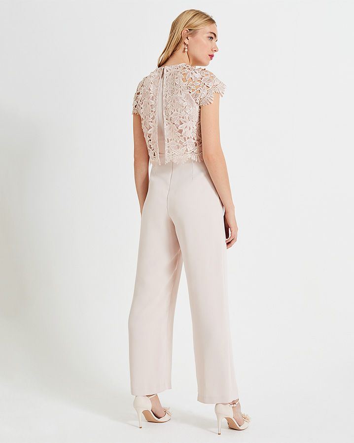 98d0b156629 Phase Eight Katy Lace Jumpsuit Pink