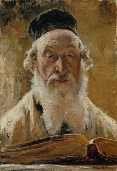 """ALBERT EDELFELT (1854-1905) """"Polish rabbi"""", 1884 - """"Puolalainen Rabbiini"""""""