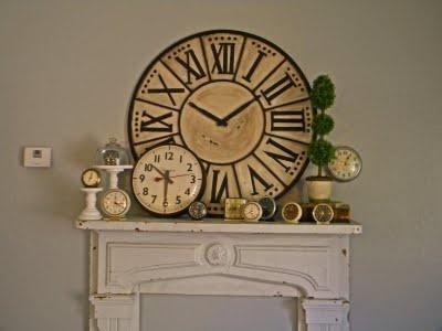 clock: Clocks Obsession, Clocks Decor, Mantles Style, Clocks Clocks, Design Decor Desire, Decor L Amour, Clocks Collection, Clockwork Inspiration, Decor Ideas Vignettes