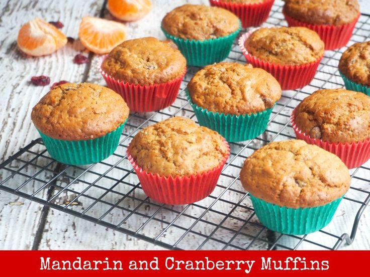 Mandarin and Cranberry Muffins