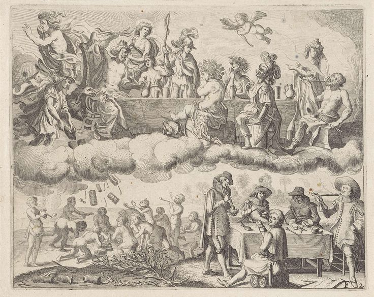 Satire op het roken, anonymous, 1624 - 1634