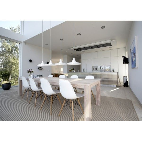 White interior - dining room & kitchen