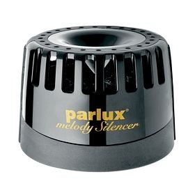 Shhh! You can now reduce the noise that your blow dryer puts out by up to 45% with the Parlux Melody Silencer. The Parlux Melody Silencer is easy to attach to the rear filter of your dryer for noise reduction.