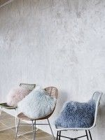 Sheepskin Cushions £50 each DUE JANUARY, download this press image at prshots.com/press #pastel #spring #women #fashion #trend #style #ootd #look #outfit