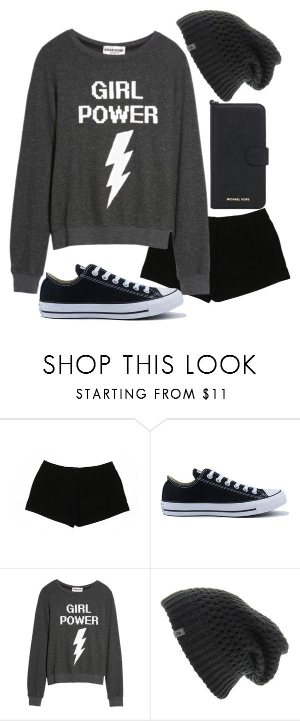 """Girl's night"" by electraz on Polyvore featuring Express, Converse, Dream Scene, The North Face and Michael Kors"