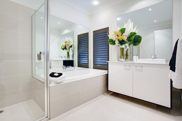 Garden Retreat bathroom by McDonald Jones Homes. #bathroom #design #luxuryhome #mcdonaldjones