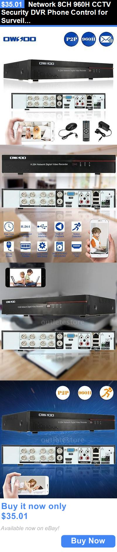 Digital Video Recorders Cards: Network 8Ch 960H Cctv Security Dvr Phone Control For Surveillance Camera Us V0v7 BUY IT NOW ONLY: $35.01