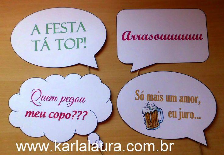 Karla Laura Convites, Lembranças e Papelaria Personalizada: Plaquinhas divertidas + Almofada porta Aliança + C...