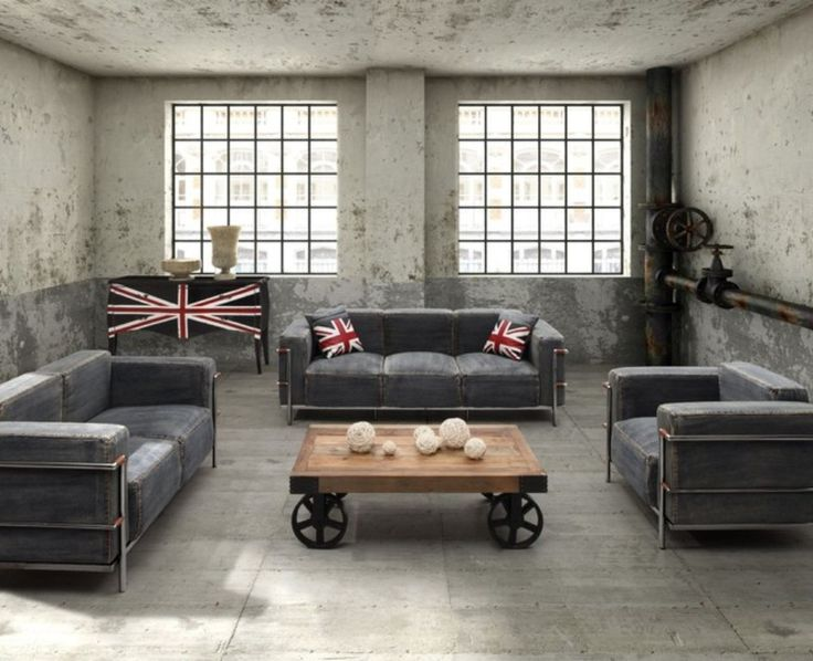 17 Best Ideas About Industrial Living Rooms On Pinterest Industrial Living