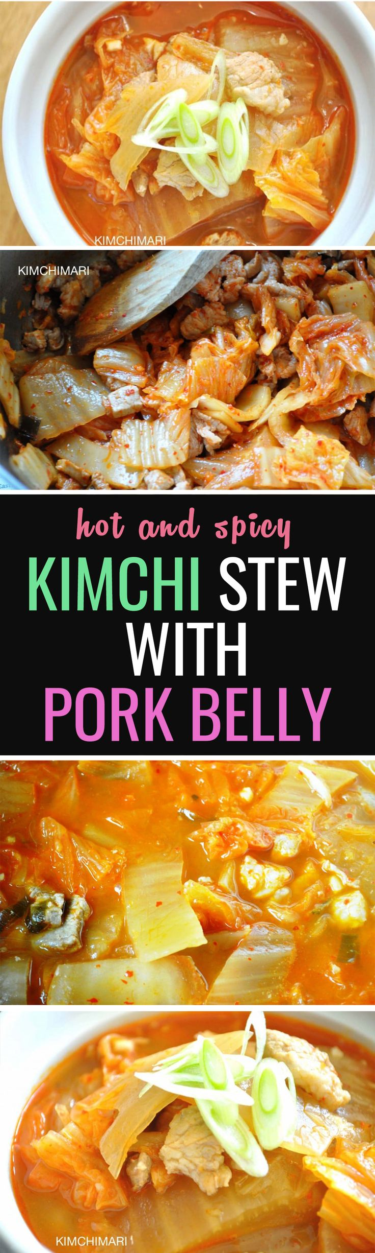 Easy classic Kimchi Stew with Pork recipe! Get your steamed rice ready!
