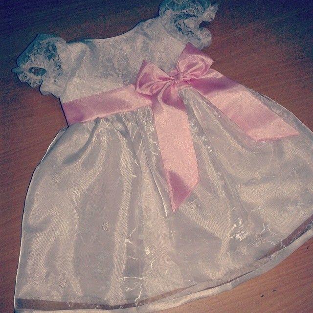 Baby Dress For Majlis Aqiqah, Cukur Jambul Dan Berendoi. Organza/lace,  Tafetta Silk And Voile. By Lovely Kidz Closet, Malaysia