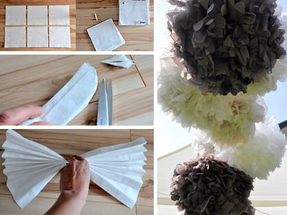 Csináld magad: filléres dekoráció esküvőre Ezekkel a szalvétából hajtogatott habos pomponokkal bármilyen szabadtéri bulit feldobhatunk, esküvői dekorációnak is mennyei, és a színeket a kedvünk szerint választhatjuk meg. Újabb szépségek Brandt Diánától, a Masni Dekoráció blog ügyes kezű szerzőjétől.