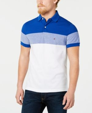 b2392c8f5 TOMMY HILFIGER DYLAN MEN'S CUSTOM FIT STRIPED POLO, CREATED FOR MACY'S. # tommyhilfiger #cloth