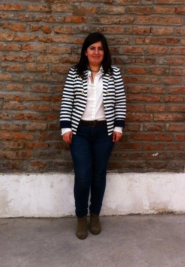#Blazer #Mango a #rayas #marineras más #outfit, lo nuevo en mi #closet - #EstilaEstilo