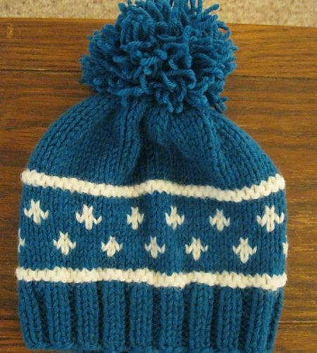 Ravelry: Project Gallery for Knit Baby Fair Isle Hat pattern by Red Heart Des...