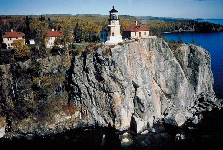 SplitRockLighthouse AerialView - List of National Historic Landmarks in Minnesota - Wikipedia, the free encyclopedia