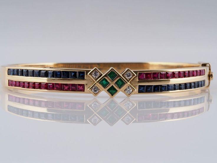 MARKEN ARMBAND / ARMREIF / BRILLANTEN SMARAGD RUBIN SAPHIR / 750 GOLD in Uhren & Schmuck, Echtschmuck, Armbänder | eBay!