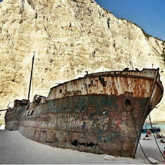 The #Shipwreck in #Zante! #Beach Photo credits: @lespaulinh