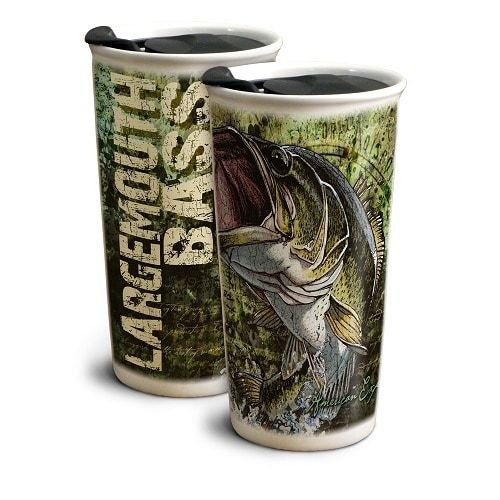American Expedition Largemouth Bass 12 oz Ceramic Travel Mug Gctm-111