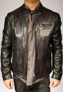 Veste en cuir homme marque pas cher