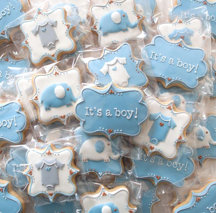 52 Best Baby Boy Shower Images On Pinterest Decorated Cookies