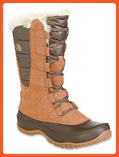 The North Face Nuptse Purna Boot - Women's Dachshund Brown/Shiny Demitasse  Brown, 5.5