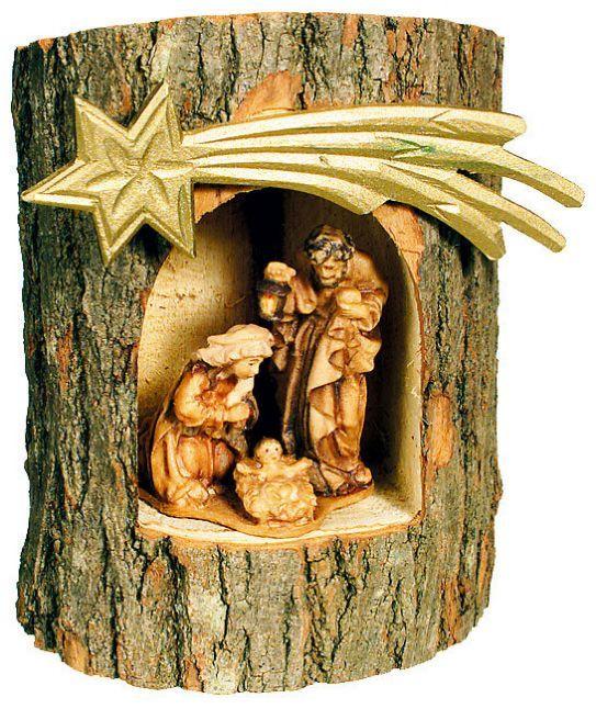 Italian wooden Nativity scene