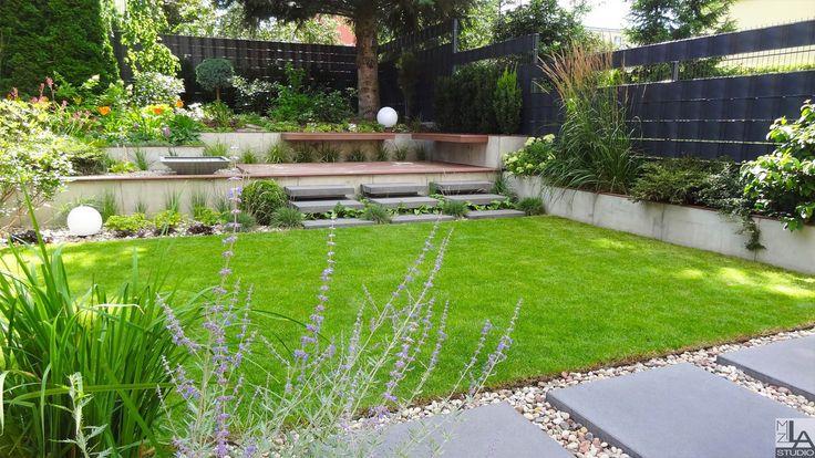 Ogród nowoczesny.