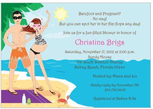 Beach Baby Shower Invitation 2 Beach Baby! {Baby Shower Inspiration}