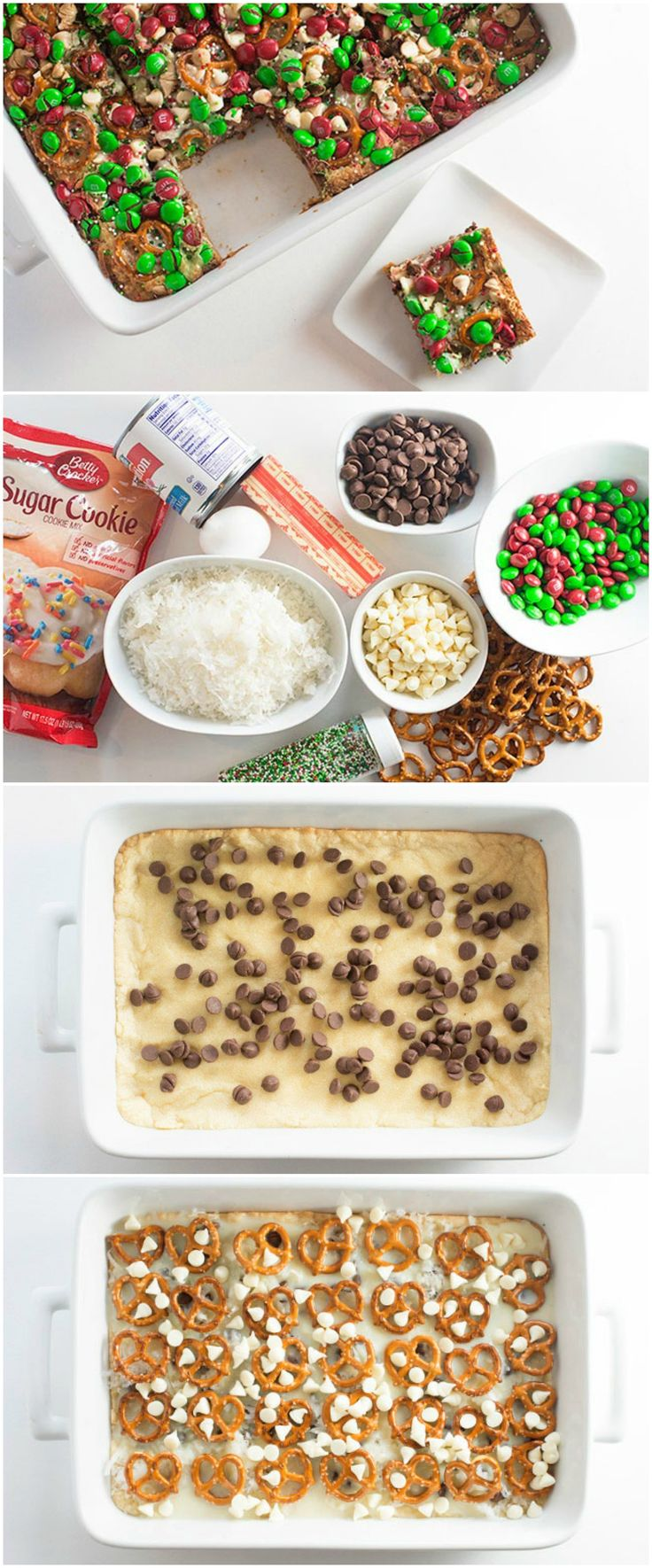 7-LAYER CHRISTMAS COOKIE BARS | These aren't just ANY 7 layers...it's basically 7 of the most delicious layers your tastebuds could ask for. Cookies, piled with coconut, chocolate, pretzels, more chocolate...MERRY CHRISTMAS TO US. It's never too early to start planning with our friends at tablespoon. #ad