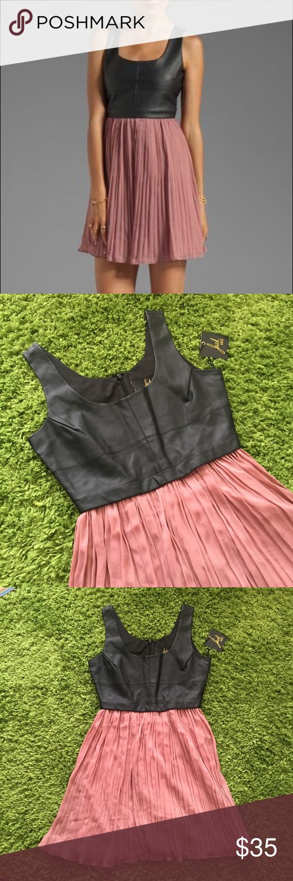 New!!! Jack BB Dakota pink black leather dress Jack BB Dakota pink black leather dress Jack by BB Dakota Dresses Mini