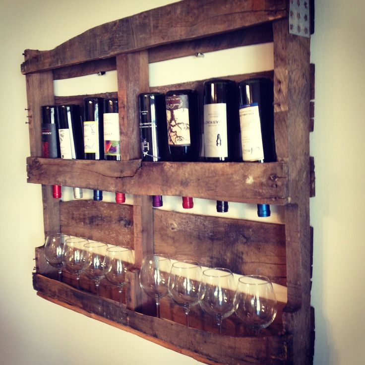 25 best images about pallet wine racks on pinterest for What to make out of those old wood pallets