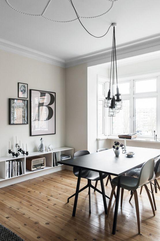 Post: Increible piso de estudiantes en Aarhus, Dinamarca estilo nordico, estilo moderno, minimalismo, interiores, decoracion comedores