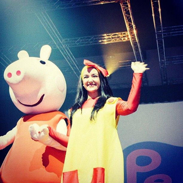 Love #PeppaPig? or know some little ones that do? At #Ekka 2013 it will be the first time anywhere in Australia that Peppa's brother George will be appearing LIVE on stage with her! The show runs for 25 mins, and will be several times a day, every day of Ekka, in the Commbank Auditorium. Check out this link for all the show times: http://goo.gl/ZLqSW