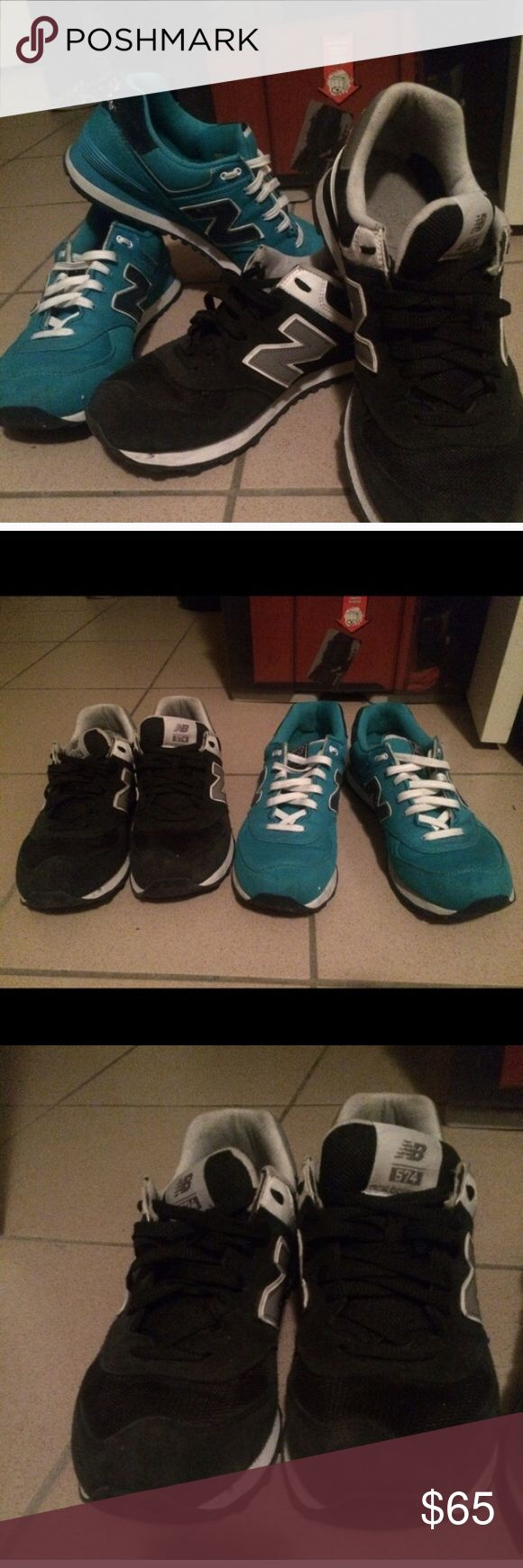 NEW BALANCE Still have a lot of life left..... Aqua blue and black new balances size 11 in women. $65 each or $100 for both New Balance Shoes Sneakers