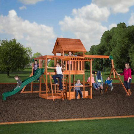 Buy Backyard Discovery Monticello Cedar Swing Set at Walmart.com
