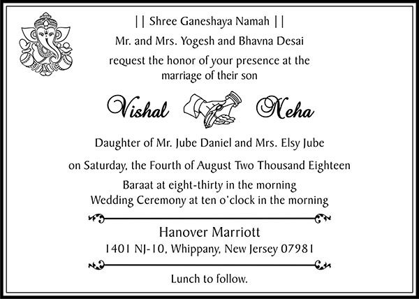 Interfaith Wedding Card Wordings Interfaith Wedding Invitation Wordings Wedding Card Wordings Wedding Card Messages Wedding Cards