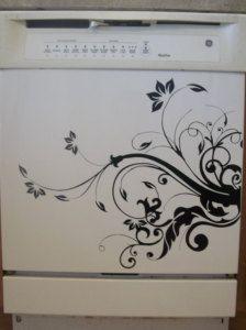 kitchen appliance decals | Dishwasher Appliance - Vinyl Decal Wall Decal Kitchen Room Decor