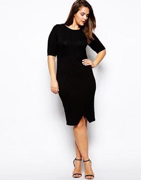 Black long sleeve bodycon dress asos usa