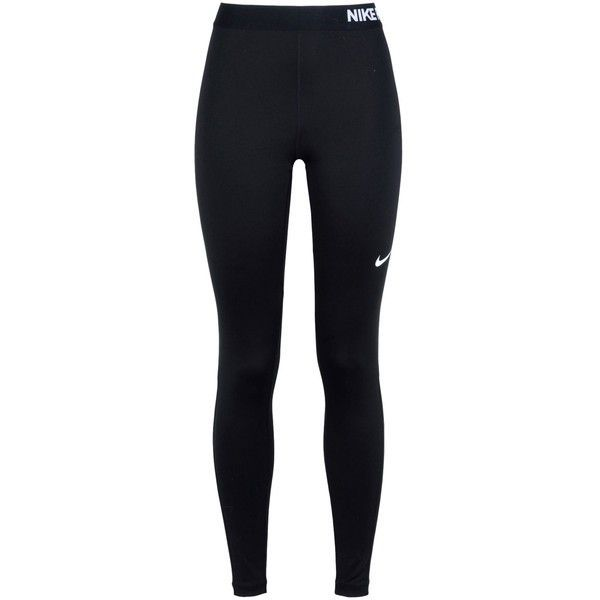 Nike Leggings ($47) ❤ liked on Polyvore featuring activewear, activewear pants, black, logo sportswear, nike, nike activewear, nike jerseys and nike sportswear