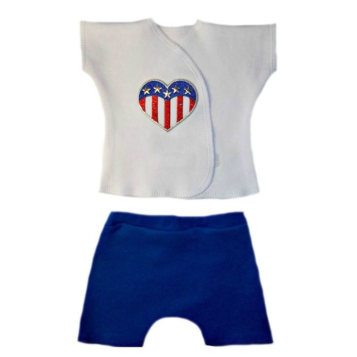 Unisex Baby Heart of the USA Shorts Set