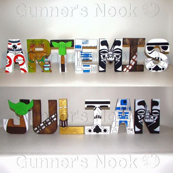 FLASH SALE Star Wars Letters Price Per Letter por GunnersNook