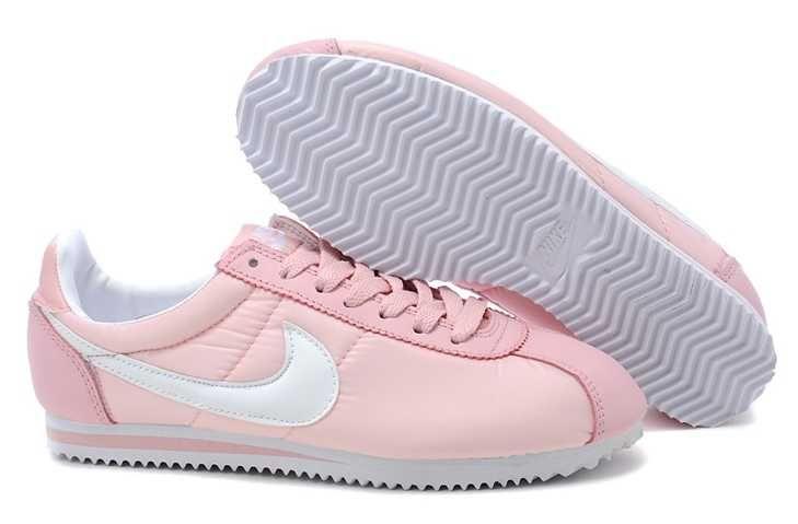 Inexpensive Nike Classic Cortez Nylon Womens Baby Pink White Hot Sale