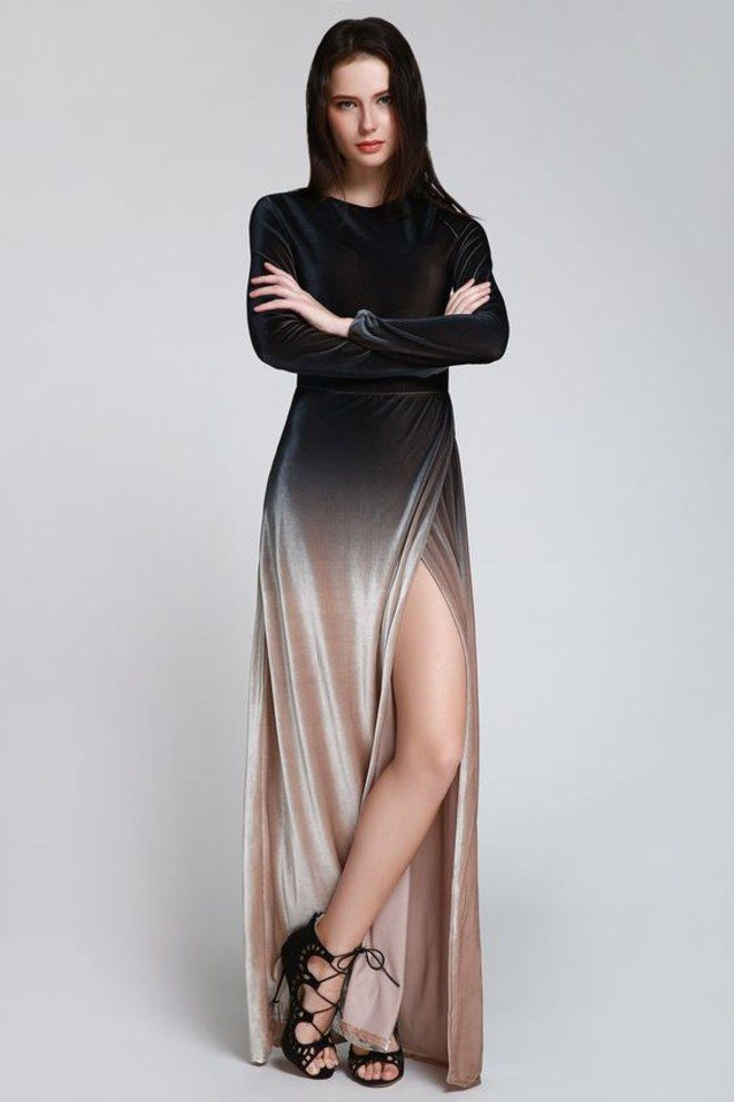 +50 vestido de festa com fenda nas pernas