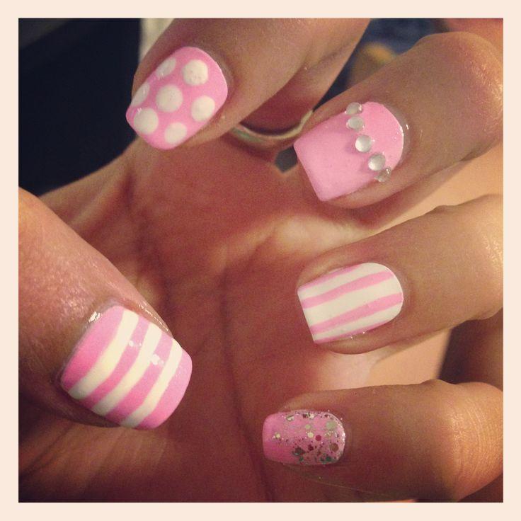 Blur Cute Girly Nail Nail Art Added May 14 Cute Girly Nail Designs
