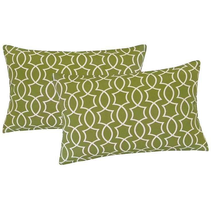 Metje Titan Geometric Indoor Outdoor 2-piece Reversible Oblong Throw Pillow Set, Multicolor