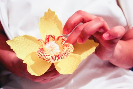 how to make paper orchid