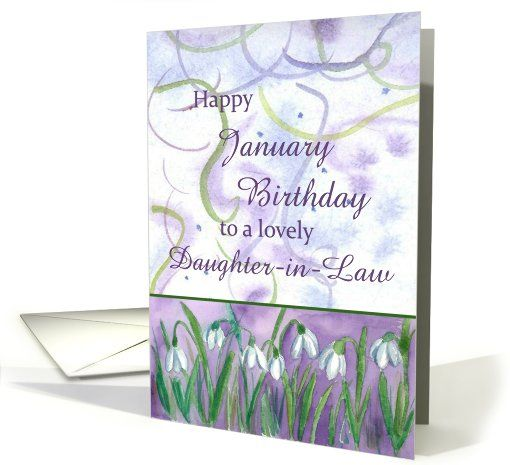 Happy January Birthday Lovely Daughter-in-Law Snowdrops