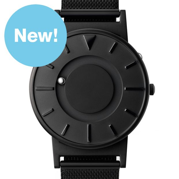 The Bradley (black stainless steel) watch by Eone. Available at Dezeen Watch Store: www.dezeenwatchstore.com
