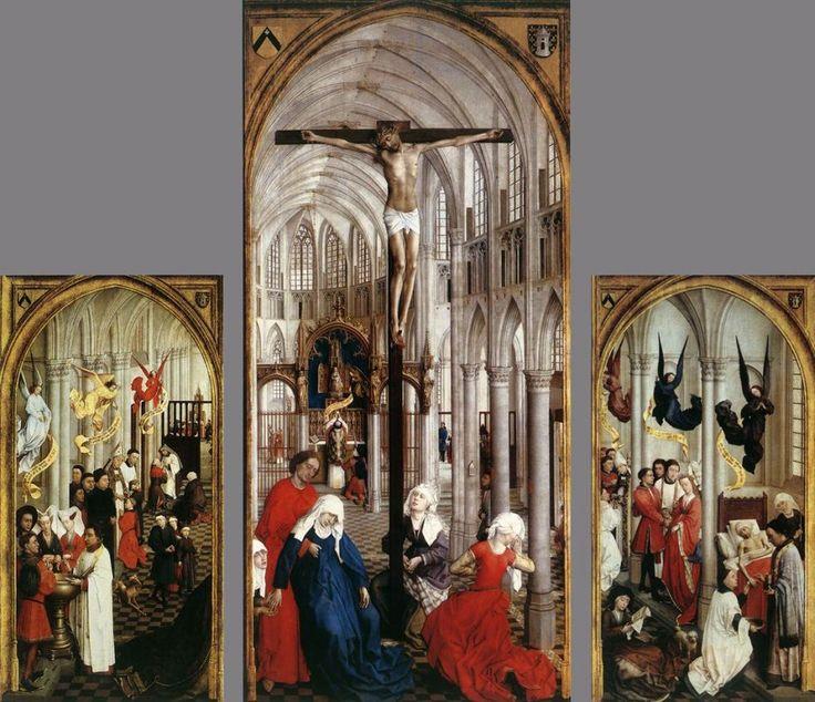 Tríptico de los Siete Sacramentos (1450) Rogier Van der Weyden